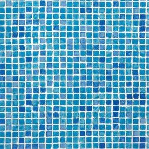 17506-A-U Grandliner gemustert Blau Mosaique