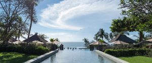 pool and blue sky in bali